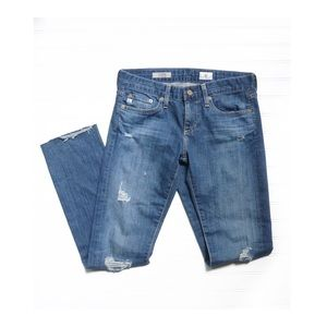 AG Jeans The Tomboy Relaxed Distressed Ripped